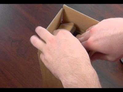 Emballage carton spécial pour une bouteille