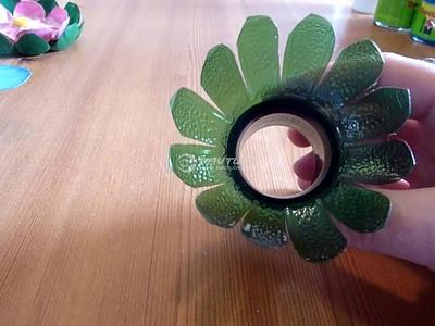 Fabriquer des fleurs avec des bouteilles en plastique