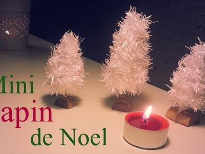Création D.I.Y Sapins miniatures décoration table de Noel