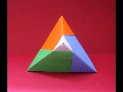 Origami facile: Faire une pyramide.