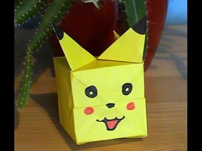 Pliage origami Pikachu (facile) en français