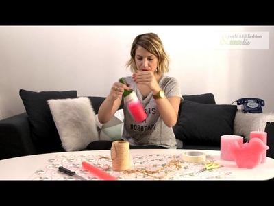 Créer soi-même un bougeoir avec une bouteille - DIY avec youMAKEfashion