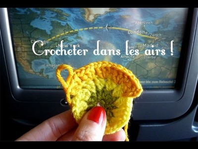 Crochet dans l'avion - Vol Zurich Chicago