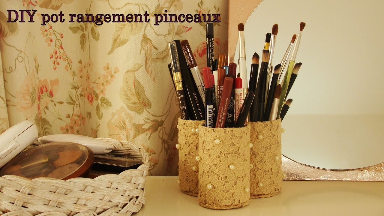 DIY pot rangement pinceaux ♡ اصنعي بنفسك حامل فرش | myriam