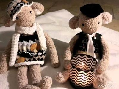 Mouton doudou poupée tricot et crochet animaux knit doll knitting