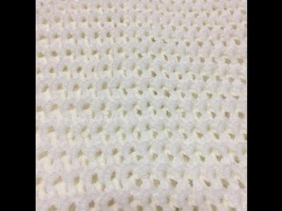 Tuto motif pour couverture  spécial gaucher au crochet