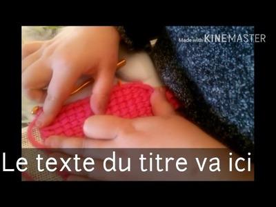 Écharpe feuille au crochet tunisien