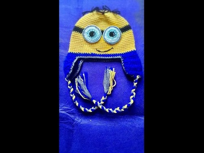 Minions crochet baby hats