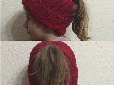 Tuto bonnet pour queue de cheval au crochet