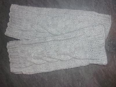 Guêtres taille unique au tricot