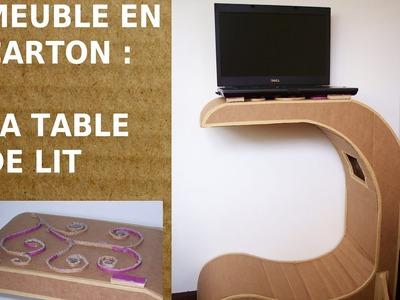 Table de lit en carton, Comment fabriquer un meuble en carton ? Recyclage du papier et du carton