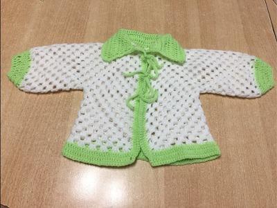 Tuto veste hexagone au crochet spécial gaucher