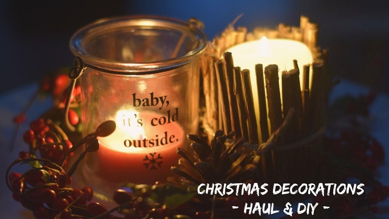 Christmas DECORATIONS - Haul & DIY