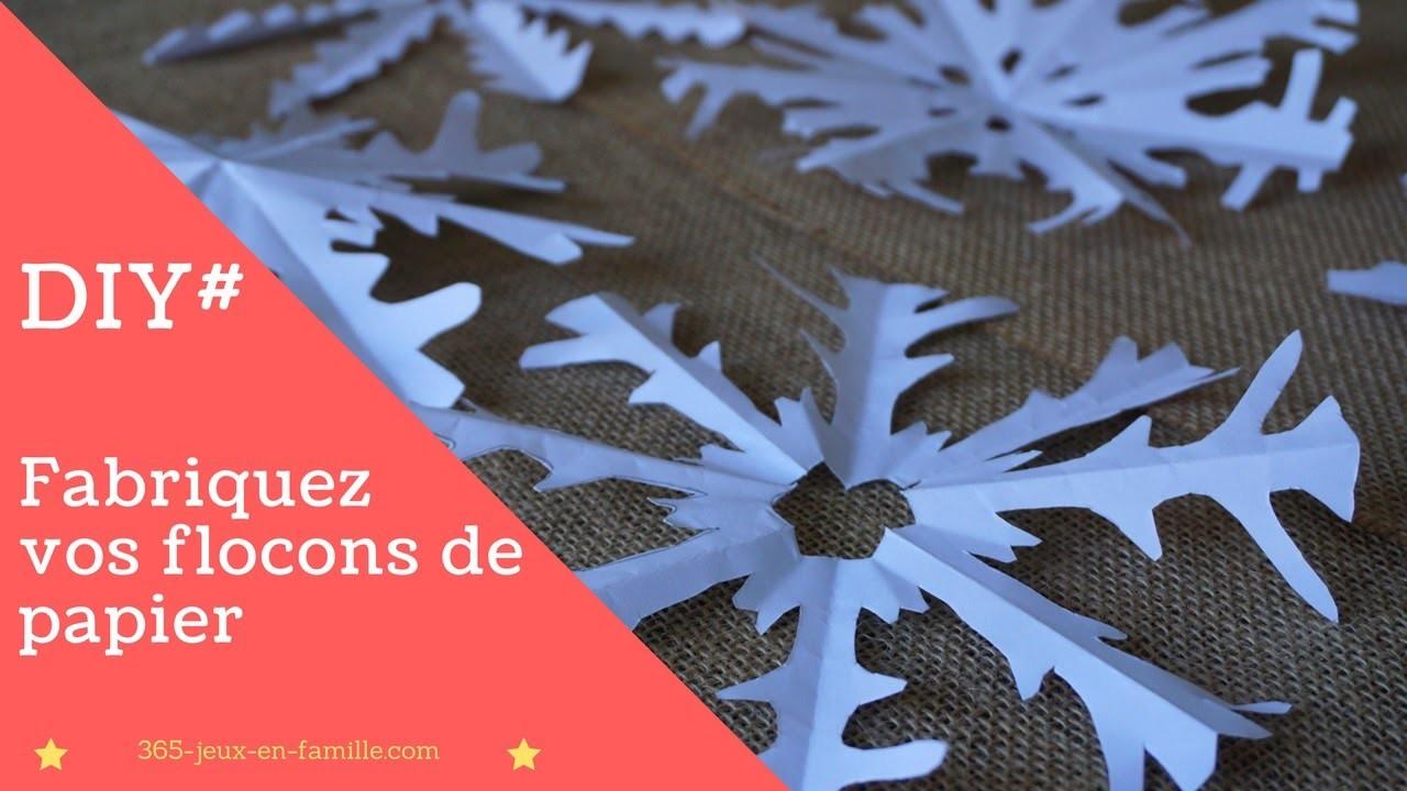 DIY# Fabriquez vos flocons de papier