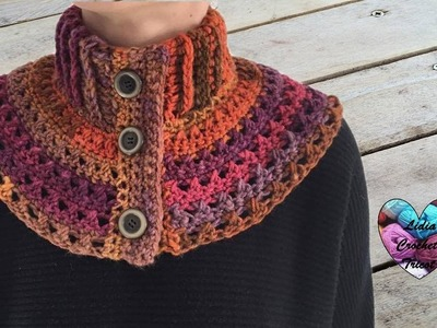 Chauffe épaules femme crochet facile. Neckwarmer collar crochet (english subtitles)