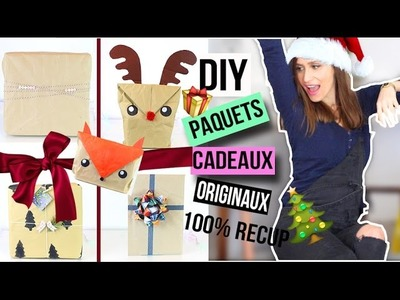 DIY NOEL┋PAQUET CADEAU ORIGINAL _ wrapping paper CHRISTMAS emballage francais