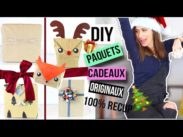 diy noel paquet cadeau original wrapping paper christmas emballage francais. Black Bedroom Furniture Sets. Home Design Ideas