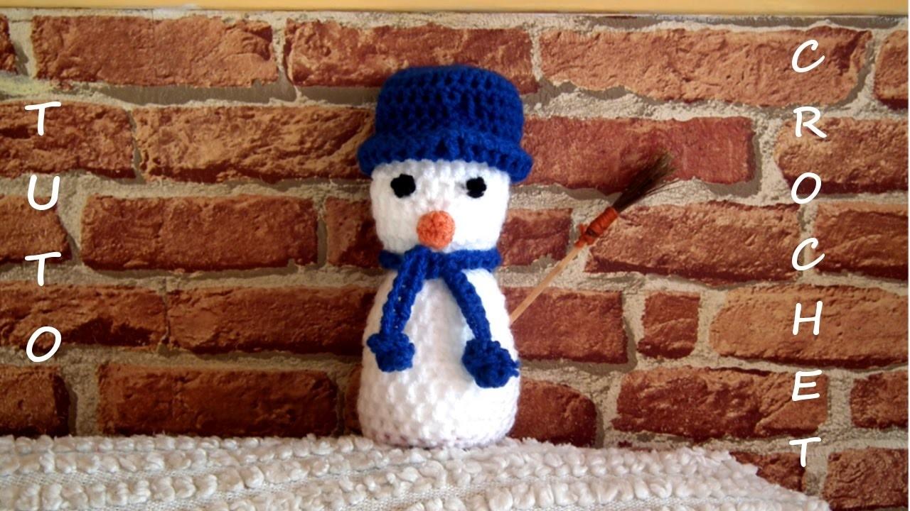 Tuto crochet comment faire un bonhomme de neige - Bonhomme de neige au crochet ...