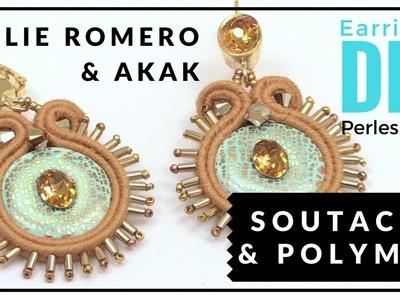 [ TUTO DIY 4 MAINS ] Akak et Julie Romero créent des Boucles d'Oreilles Fimo et Soutache avec perles