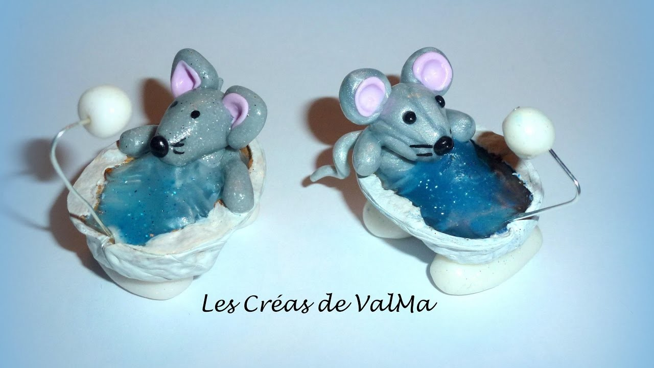 tuto fimo souris dans son bain coquille de noix polymer clay tutorial. Black Bedroom Furniture Sets. Home Design Ideas