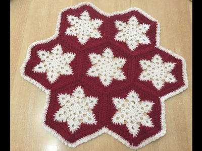 Tuto hexagone étoile au crochet spécial gaucher