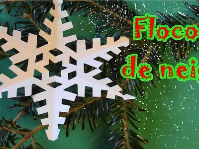 DIY : FLOCON de NEIGE de Noël : Bricolage de Noël en papier