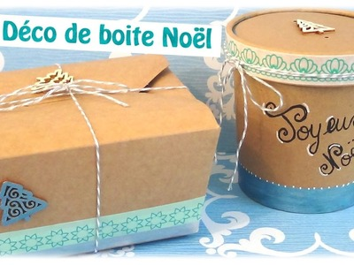{ DIY } Boite cadeaux Noël