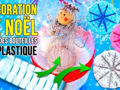 DIY de décoration RECYCLÉE de Noël * COMMENT FAIRE  Décor de NOËL avec des BOUTEILLES en PLASTIQUE