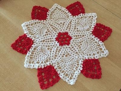 Tuto napperon au crochet spécial gaucher 2.2