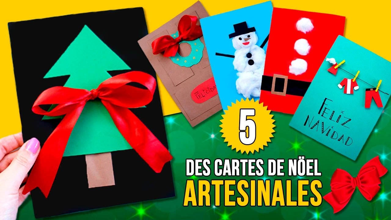 5 diy des cartes de no l pour les enfants des cartes artisanales pour no l. Black Bedroom Furniture Sets. Home Design Ideas