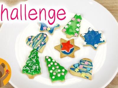 Petits gâteaux secs Challenge | Gâteaux avec du sucre glace | Déco pâtisserie DIY