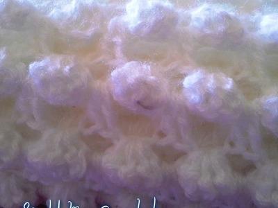 Crochet point fantaisie pour couverture bebe