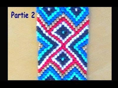 Bracelet brésilien Aztèque (niveau expert) partie 2
