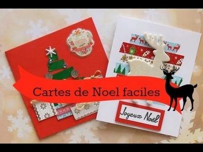 Cartes de Noël faciles à réaliser