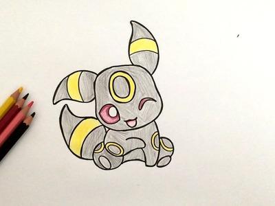 Comment dessiner Noctali bébé (Pokémon)