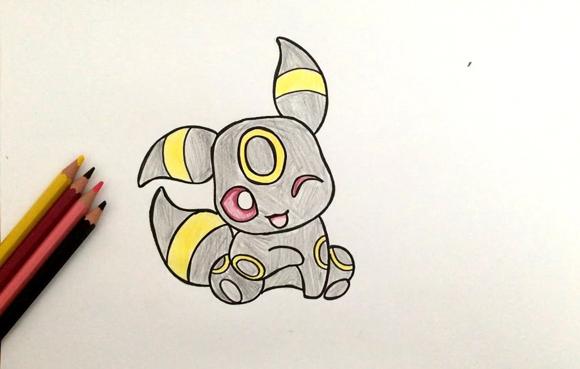 comment dessiner noctali bb pokmon - Dessin Facile Pokemon