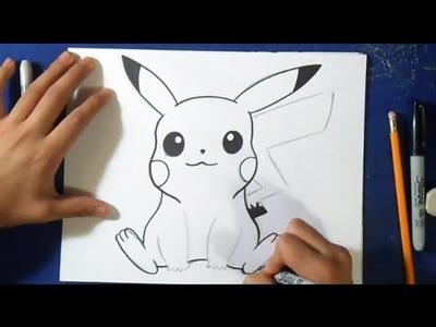 """Comment dessiner """"Pokémon"""" Pikachu"""