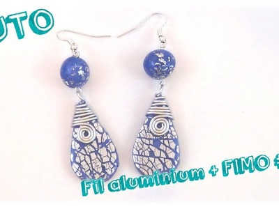 { Tuto } Bijoux fil aluminium et FIMO # 5