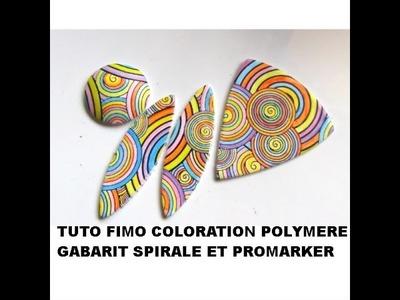 Tuto #fimo coloration Promarker sur pochoir Spirale Graine Créative