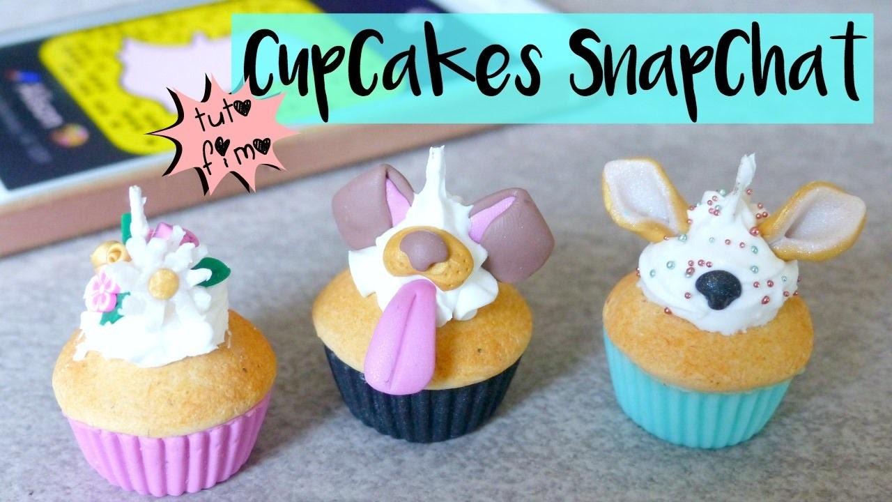 • [TUTO FIMO] Cupcakes Snapchat (PimPomPerles.fr) ⎪Coockies Fantasy  •