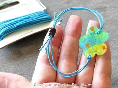 Tuto - Noeud coulissant pour faire un bracelet réglable
