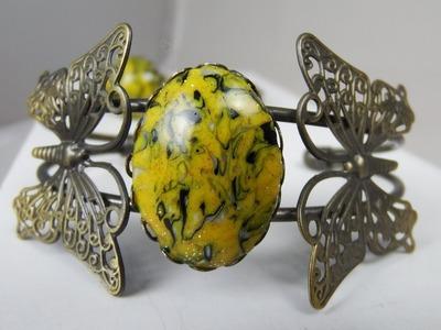 0155 - Vidéo - Tuto - Papillon d'or - FIMO PRO