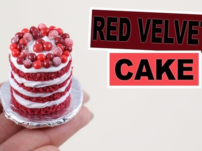 Red Velvet Cake⎪Fimo (Fashion Cooking inspired)