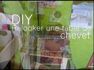 Relooker une table de chevet - Decorate a bedside table