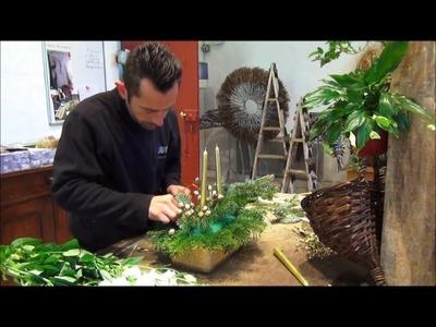 Tutoriel composition florale de Noël à Chenonceau