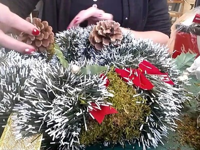 Tutoriel faire sa couronne de Noël