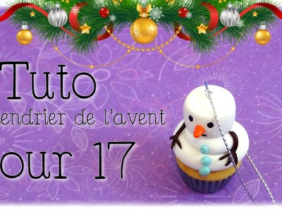 { Calendrier de l'avent } Jour 17. Cupcake chamallow. FIMO