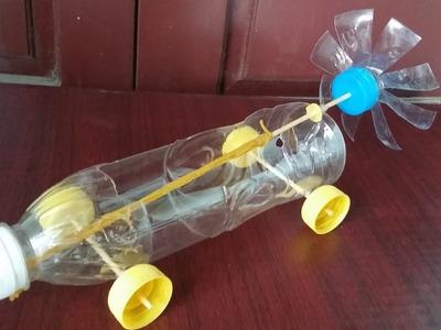 Comment faire une bande élastique alimenté voiture | Réutilisation bouteille en plastique
