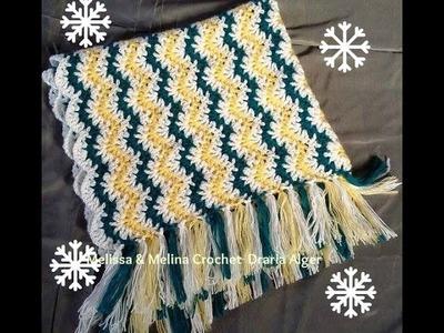 Crochet point fantaisie pour couverture bebe, écharpe,Etole et châle