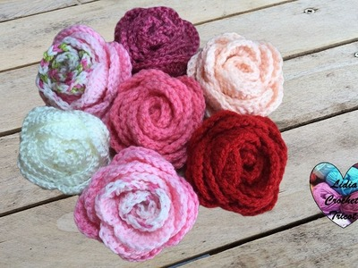 Roses au crochet très facile. Roses flowers tutorial crochet very easy (english subtitles)